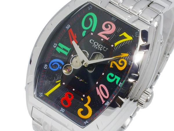 コグ COGU 自動巻き ジャンピングアワー メンズ 腕時計 JH7M-BCL ブラック