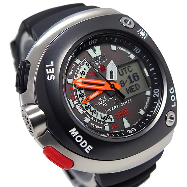 シチズン クオーツ メンズ ダイバー エコドライブ 腕時計 JV0027-05E グレー