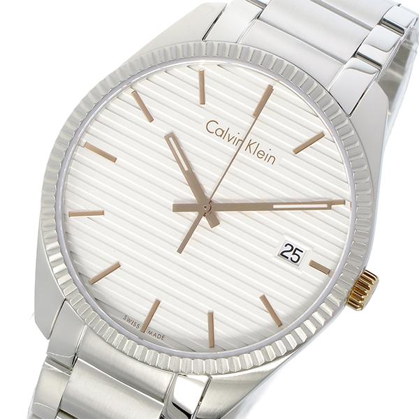 カルバンクライン Calvin Klein ボールド BOLD クオーツ メンズ 腕時計 K5R31B46 ホワイトシルバー