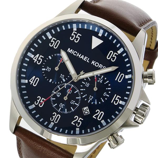 マイケルコース MICHAEL KORS ゲージ Gage クオーツ クロノ メンズ 腕時計 MK8362 ネイビー