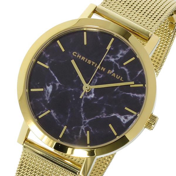 クリスチャンポール CHRISTIAN PAUL マーブル Marble BRIGHTON レディース 腕時計 MRML-04 ブラック