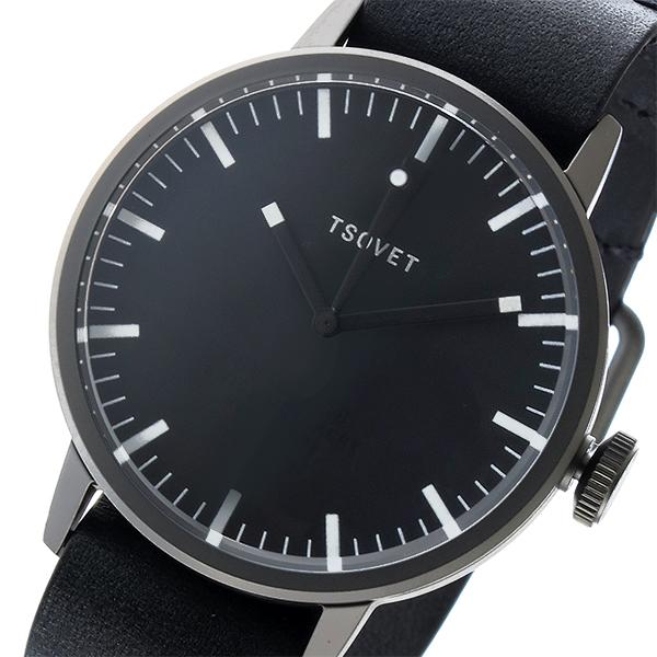 ソベット TSOVET SVT-SC38 クオーツ ユニセックス 腕時計 SC221010-45 ブラック