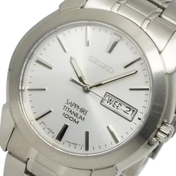 セイコー SEIKO クオーツ メンズ チタニウム 腕時計 SGG727P1 ホワイト