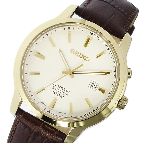 セイコー SEIKO キネティック KINETIC キネティッククオーツ メンズ 腕時計 SKA744P1 アイボリー
