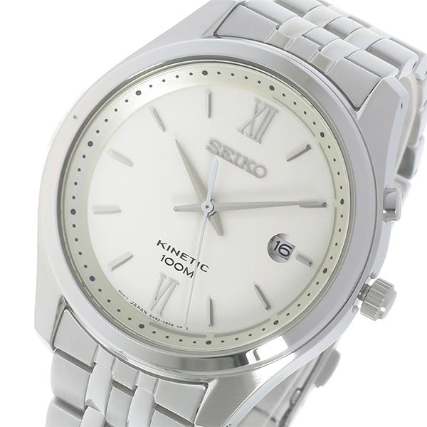セイコー SEIKO キネティック クオーツ メンズ 腕時計 SKA767P1 ホワイト