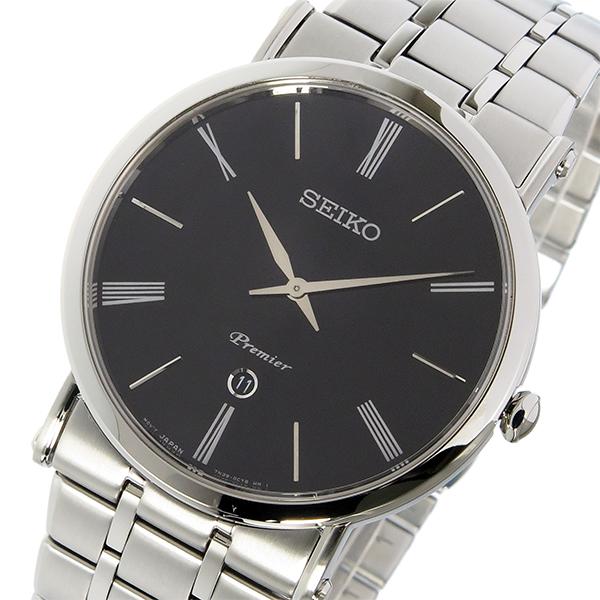 セイコー SEIKO プルミエ Premier クオーツ メンズ 腕時計 SKP393P1 ブラック