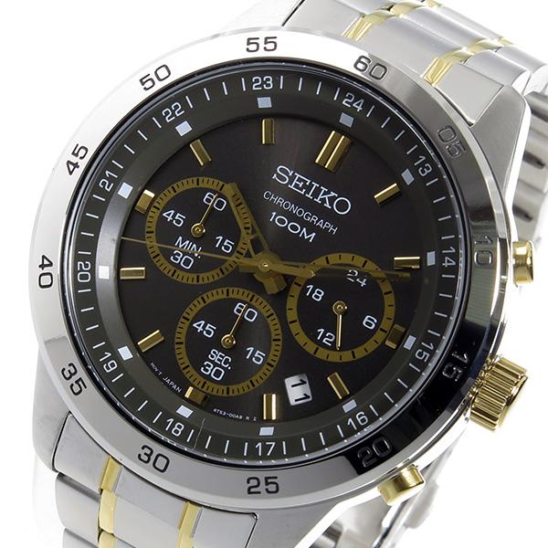 セイコー SEIKO クオーツ クロノ メンズ 腕時計 SKS525P1 ブラック