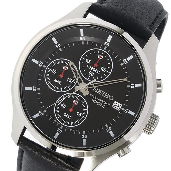 セイコー SEIKO クロノ クオーツ メンズ 腕時計 SKS539P2 ブラック