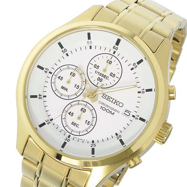 セイコー SEIKO クロノ クオーツ メンズ 腕時計 SKS544P1 ホワイト