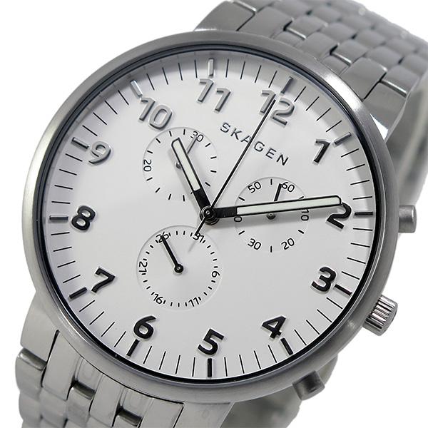 スカーゲン SKAGEN クオーツ クロノ メンズ 腕時計 SKW6231 ホワイト