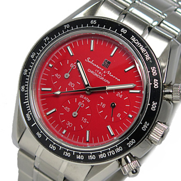 サルバトーレ マーラ クロノ クオーツ メンズ 腕時計 SM15111-SSRD レッド
