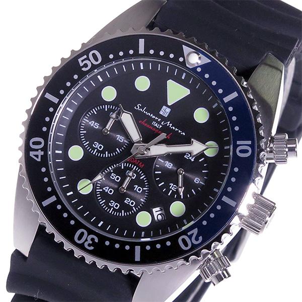 サルバトーレ マーラ クロノ クオーツ メンズ 腕時計 SM16104-SSBKBL ブラック