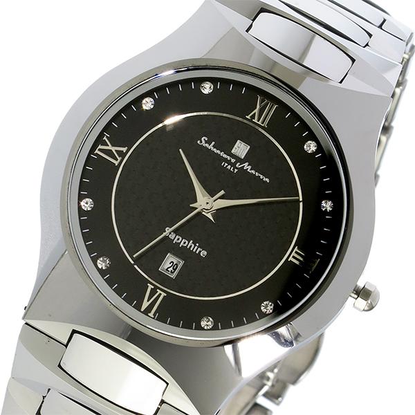 サルバトーレ マーラ SALVATORE MARRA クオーツ タングステン メンズ 腕時計 SM17103-SVBK ブラック