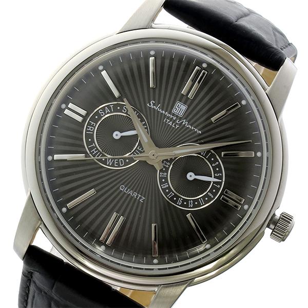 サルバトーレマーラ クオーツ メンズ 腕時計 SM17107-SSBK ブラック/シルバー