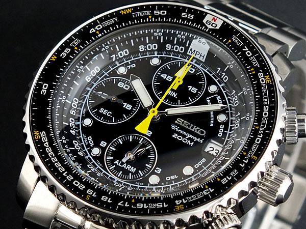 セイコー SEIKO クロノグラフ アラーム 腕時計 SNA411P1