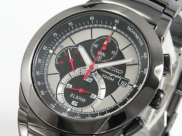 セイコー SEIKO クロノグラフ アラーム 腕時計 SNAB35P1