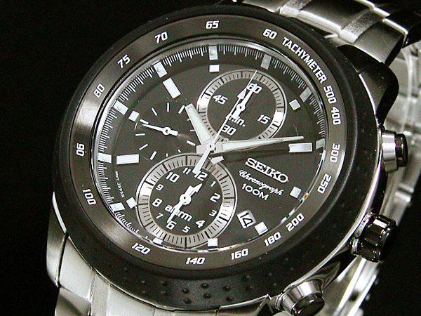 セイコー SEIKO クロノグラフ アラーム 腕時計 SNAB51P1