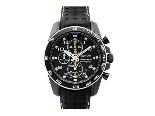 セイコー SEIKO スポーチュラ クオーツ メンズ クロノ 腕時計 SNAE67P1 ブラック