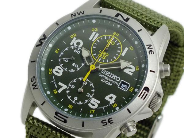 セイコー SEIKO クロノグラフ メンズ 腕時計 SND377R グリーン