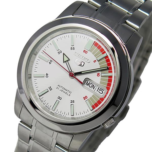 セイコー セイコーファイブ 自動巻き レディース 腕時計 SNKK25J1 ホワイト