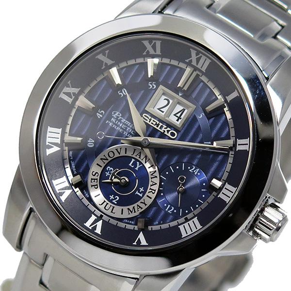 セイコー プルミエ パーペチュアル クオーツ メンズ 腕時計 SNP113P1 ブルー