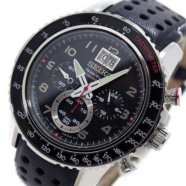 セイコー SEIKO スポーチュラ クオーツ クロノ メンズ 腕時計 SPC139P1 ブラック