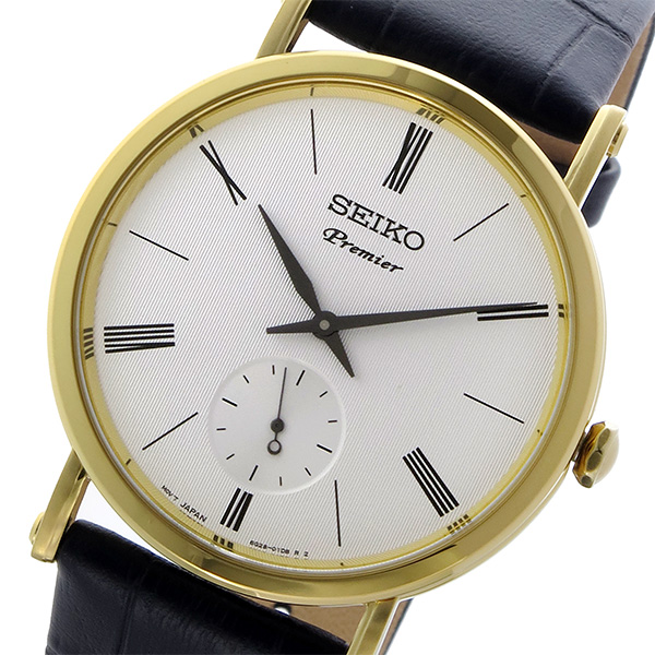 セイコー SEIKO プルミエ PREMIER クオーツ メンズ 腕時計 SRK036P1 ホワイト
