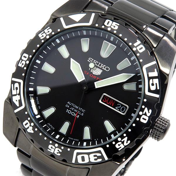 セイコー SEIKO 自動巻き メンズ 腕時計 SRP169J1 ブラック