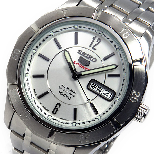 セイコー SEIKO 自動巻き メンズ 腕時計 SRP295J1 シルバー