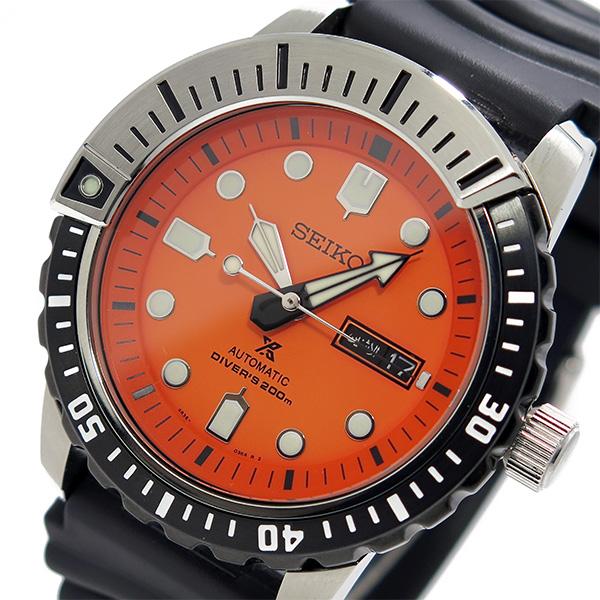 セイコー SEIKO プロスペックス PROSPEX メンズ 自動巻き 腕時計 SRP589K1 オレンジ