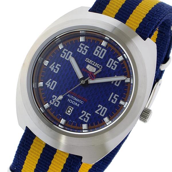 セイコー SEIKO セイコー5 スポーツ 5 SPORTS 自動巻き メンズ 腕時計 SRPA91K1 ブルー/イエロー