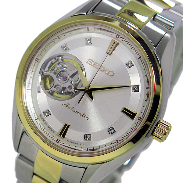 セイコー SEIKO プレサージュ 自動巻き メンズ 腕時計 SSA868J1 ホワイト
