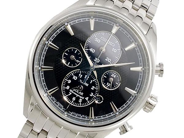 セイコー SEIKO ソーラー メンズ クロノ 腕時計 SSC211P1