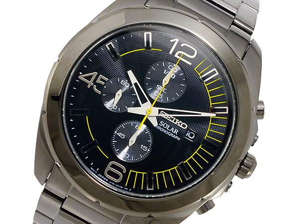 セイコー SEIKO ソーラー メンズ クロノ 腕時計 SSC217P1