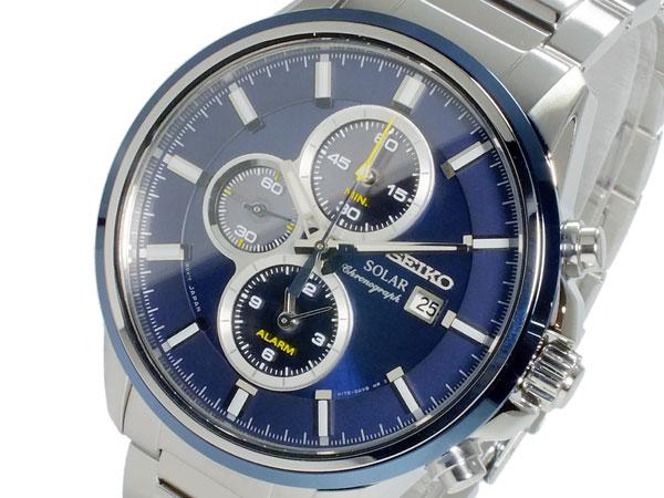 セイコー SEIKO ソーラー クロノ メンズ 腕時計 SSC253P1 ネイビー