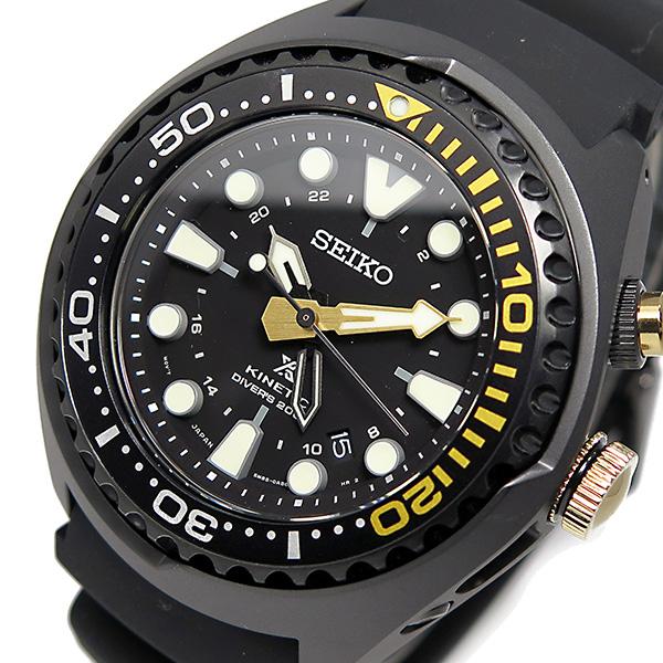 セイコー プロスペックス キネティック クオーツ 腕時計 SUN045P1 ブラック
