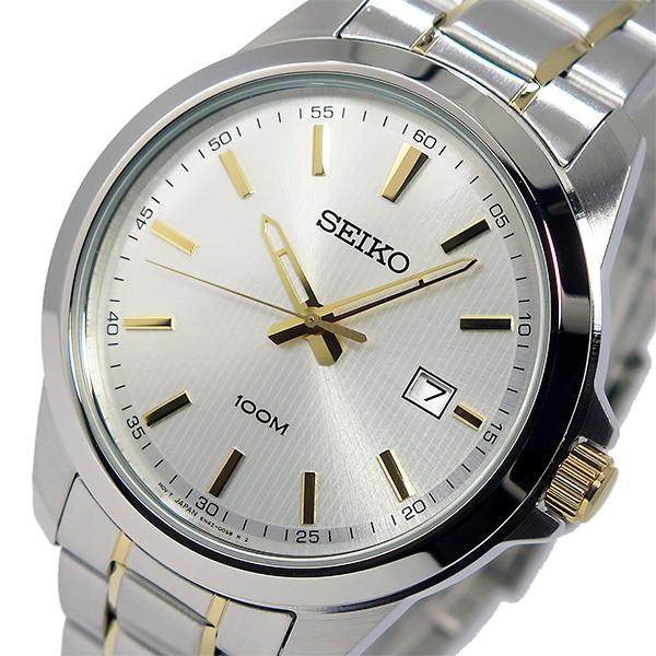 セイコー SEIKO クオーツ メンズ 腕時計 SUR157P1 シルバー/ゴールド