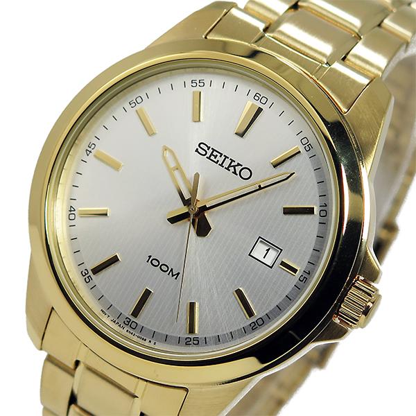 セイコー SEIKO クオーツ メンズ 腕時計 SUR158P1 シルバー/ゴールド