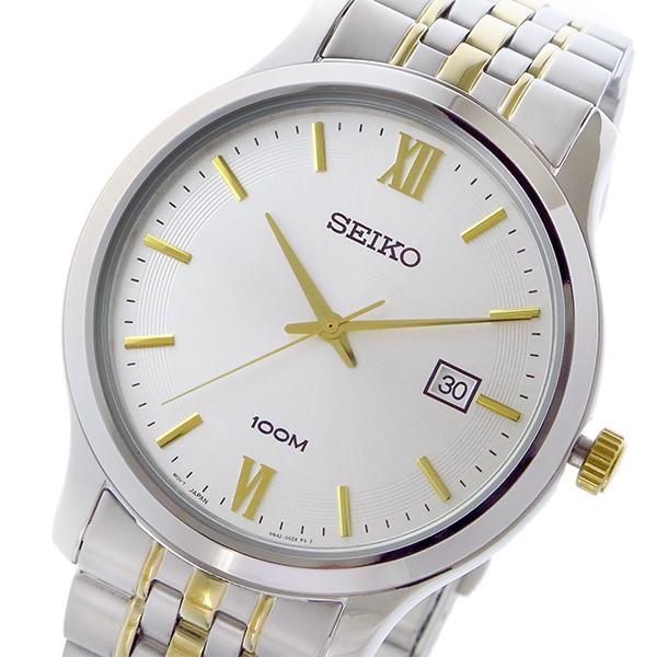 セイコー SEIKO クラシック クオーツ メンズ 腕時計 SUR223P1 ホワイトシルバー