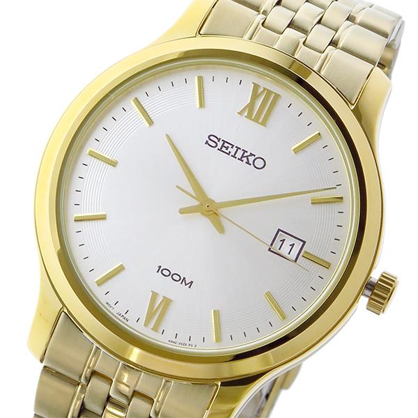 セイコー SEIKO クラシック クオーツ メンズ 腕時計 SUR224P1 ホワイトシルバー