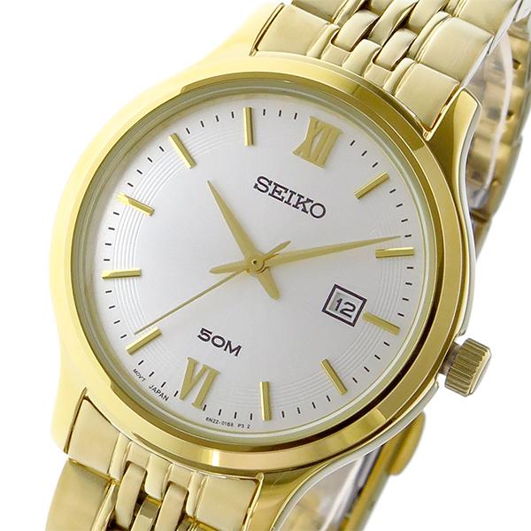 セイコー SEIKO クラシック クオーツ レディース 腕時計 SUR704P1 ホワイトシルバー