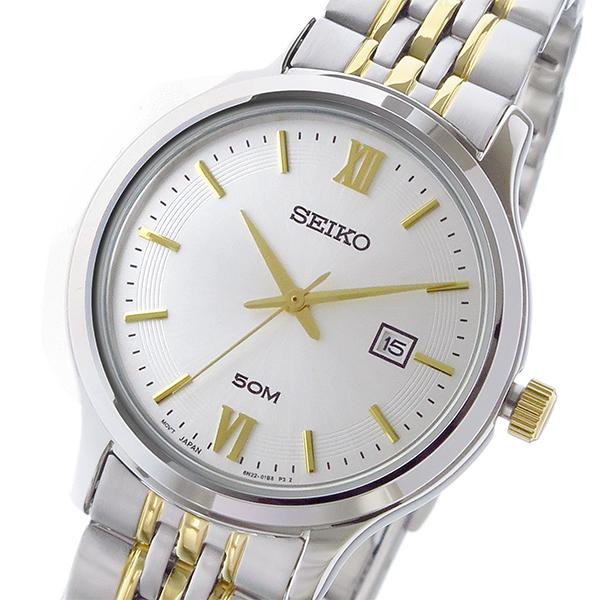 セイコー SEIKO クラシック クオーツ レディース 腕時計 SUR705P1 ホワイトシルバー