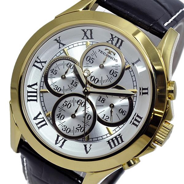 テクノス TECHNOS クオーツ メンズ クロノ 腕時計T4345GS シルバー