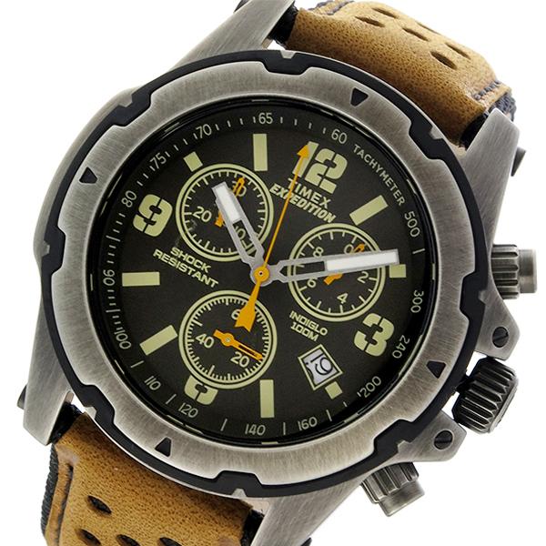 タイメックス TIMEX エクスペディション EXPEDITION クロノ クオーツ メンズ 腕時計 TW4B01500 ブラック