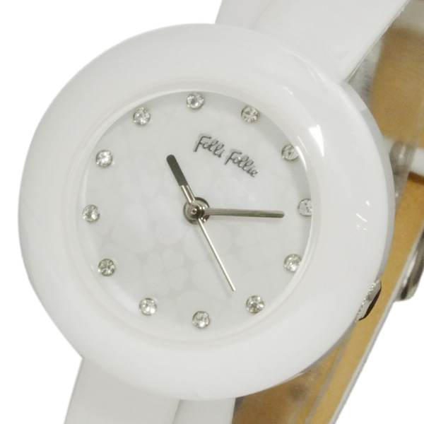 フォリフォリ FOLLI FOLLIE フォーハート レディース 腕時計 WF13F030SSW-WH