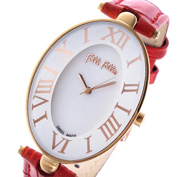 フォリフォリ FOLLI FOLLIE ロマンス ROMANCE クオーツ レディース 腕時計 WF14R025SPS-RE ホワイト