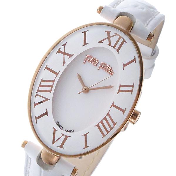 フォリフォリ FOLLI FOLLIE マッチポイント クオーツ レディース 腕時計 WF14R025SPS-WH ホワイト