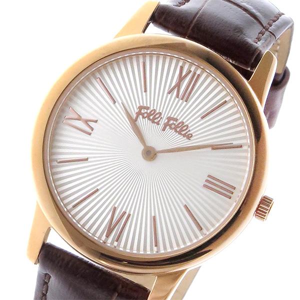 フォリフォリ FOLLI FOLLIE マッチポイント クオーツ レディース 腕時計 WF15R032SPW-BR シルバー