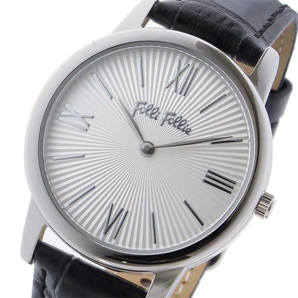 フォリフォリ FOLLI FOLLIE マッチポイント クオーツ レディース 腕時計 WF15T032SPW-BK シルバー