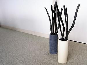 详细的长木炭室内装饰LURA(尺)灰白  ※最高级纪州详细的长木炭使用